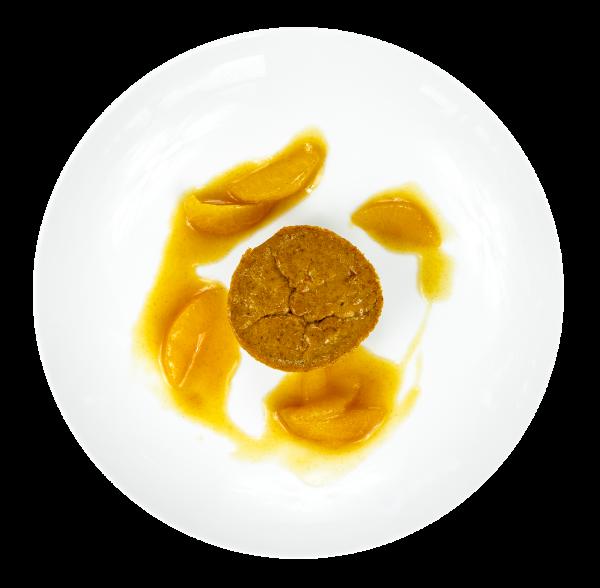 Kürbistörtchen mit Orangenragout